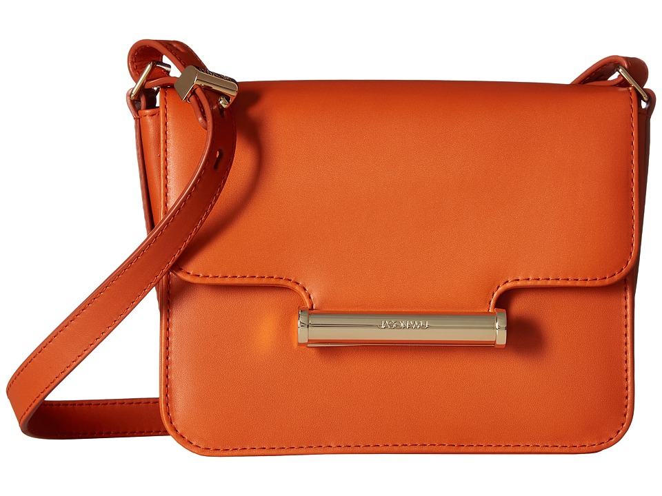 Jason Wu - Diane Vitello Leather Mini Crossbody (Burnt Orange) Cross Body Handbags