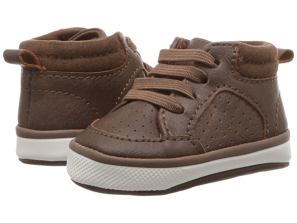 Baby Deer Soft Sole Hi-Top (Infant) (Brown) Boy's Shoes