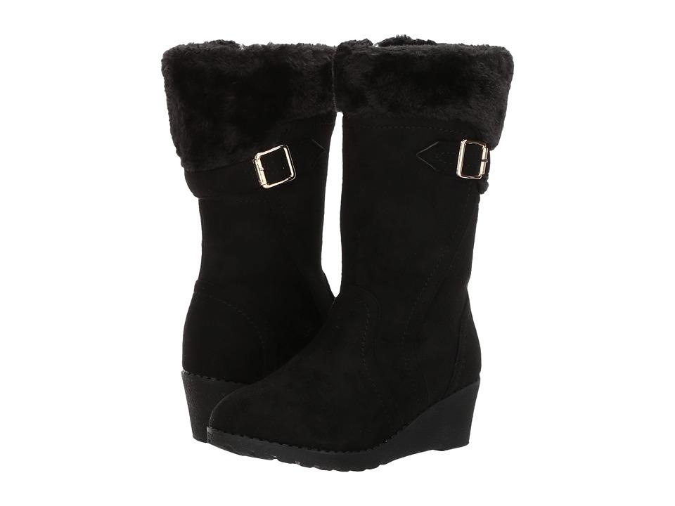 kensie girl Kids - Suede Fur Topped Wedge Boot