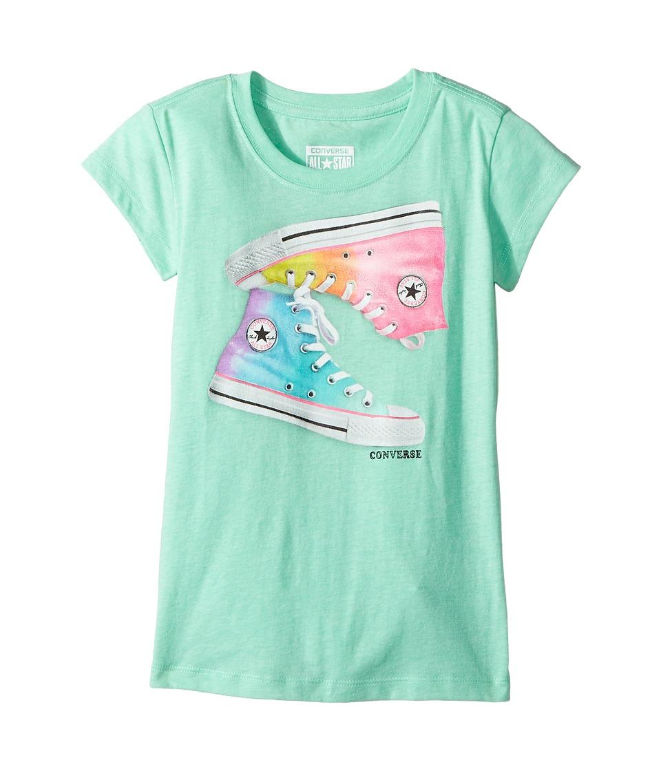 Converse Kids Ombre Chucks Tee (Big Kids) (Green Glow) Girl