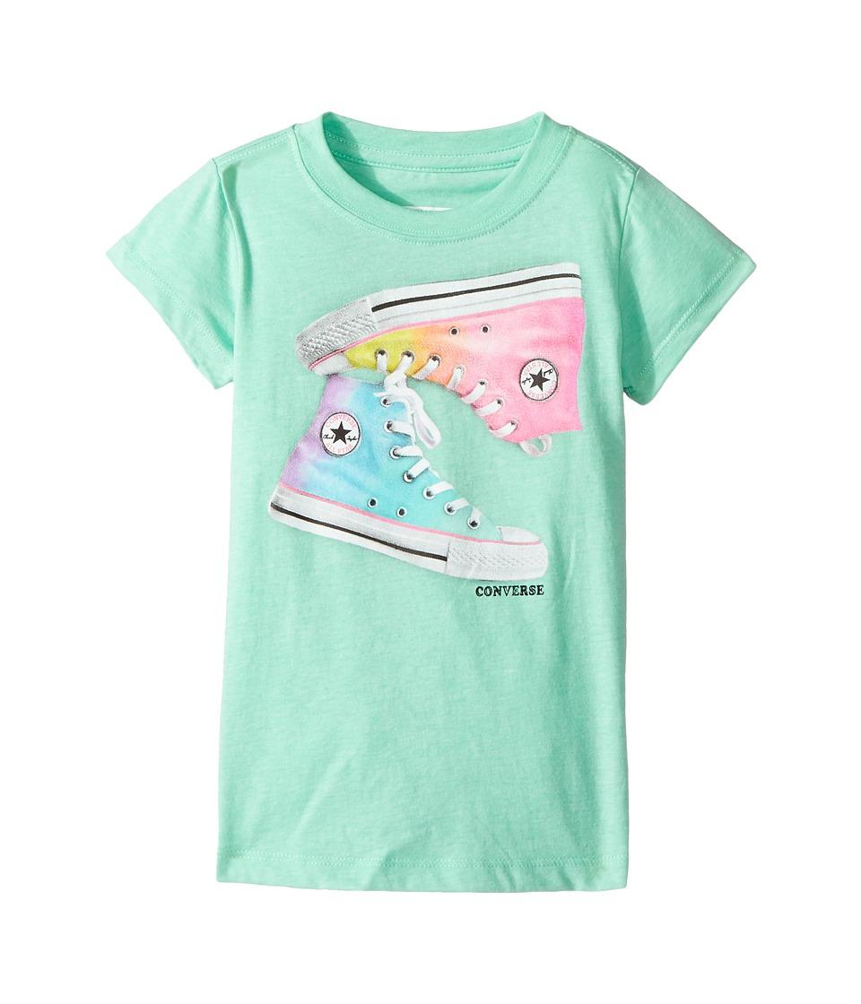 Converse Kids Ombre Chucks Tee (Toddler/Little Kids) (Green Glow) Girl