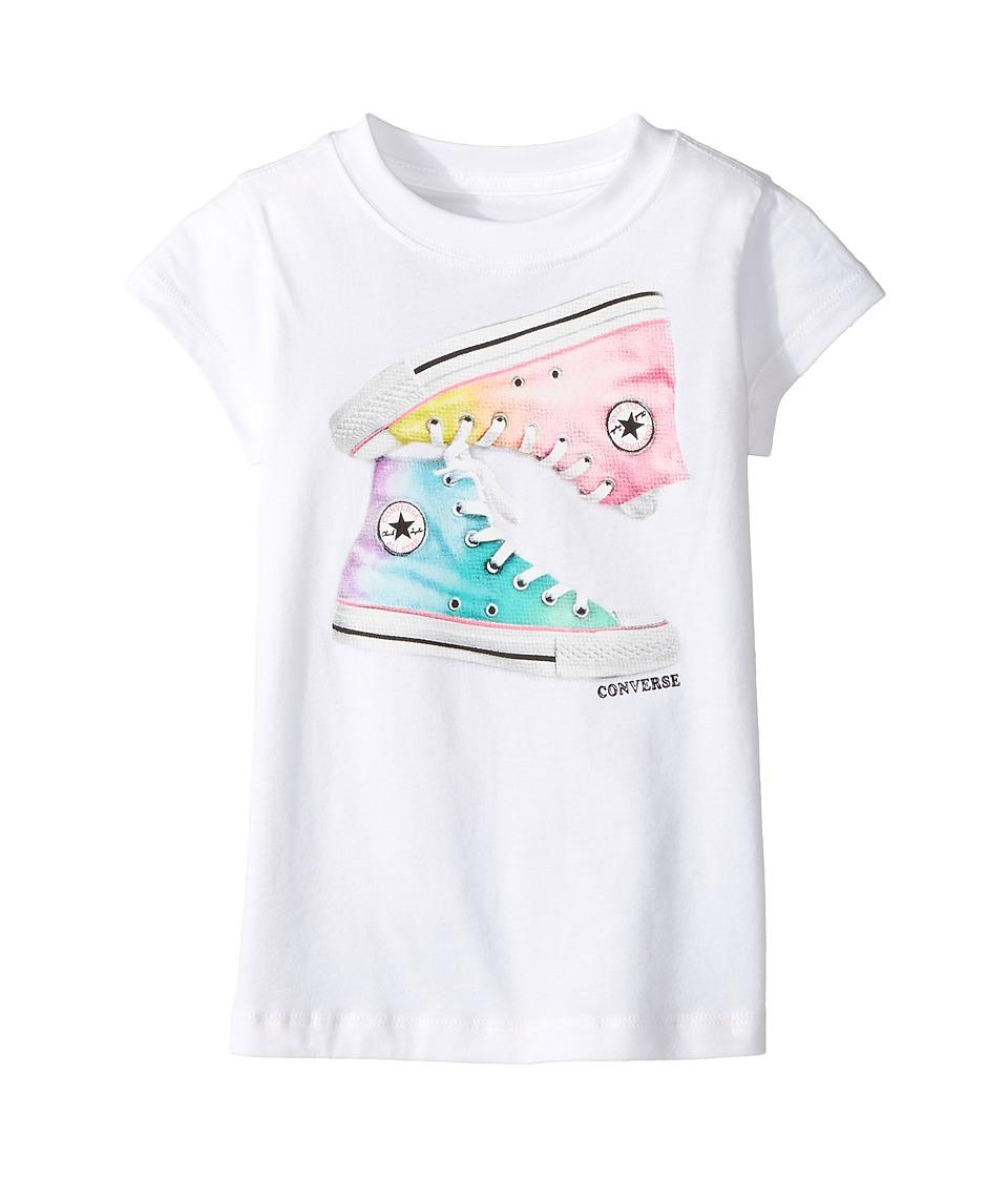 Converse Kids Ombre Chucks Tee (Toddler/Little Kids) (White) Girl