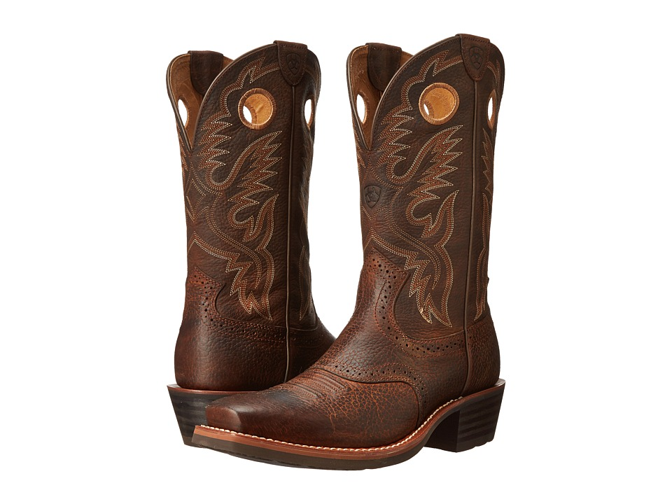 Ariat Heritage Roughstock (Brown Oiled Rowdy) Cowboy Boots