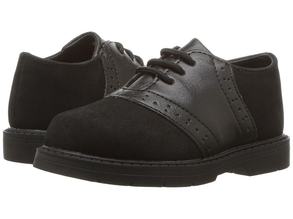 Baby Deer First Steps Oxford (Infant/Toddler) (Black) Boy's Shoes