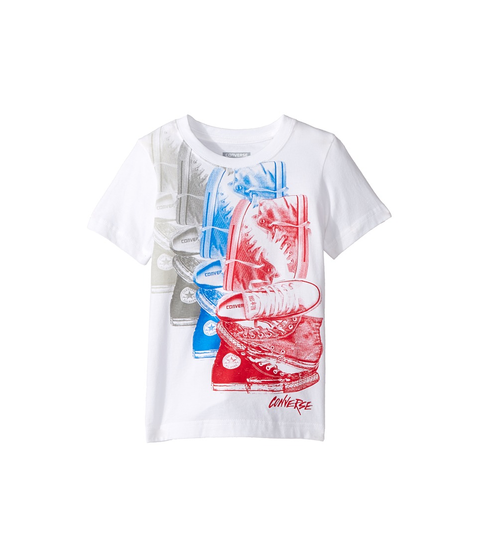 Converse Kids Chuck Repeat Tee (Toddler/Little Kids) (White/Red) Boy