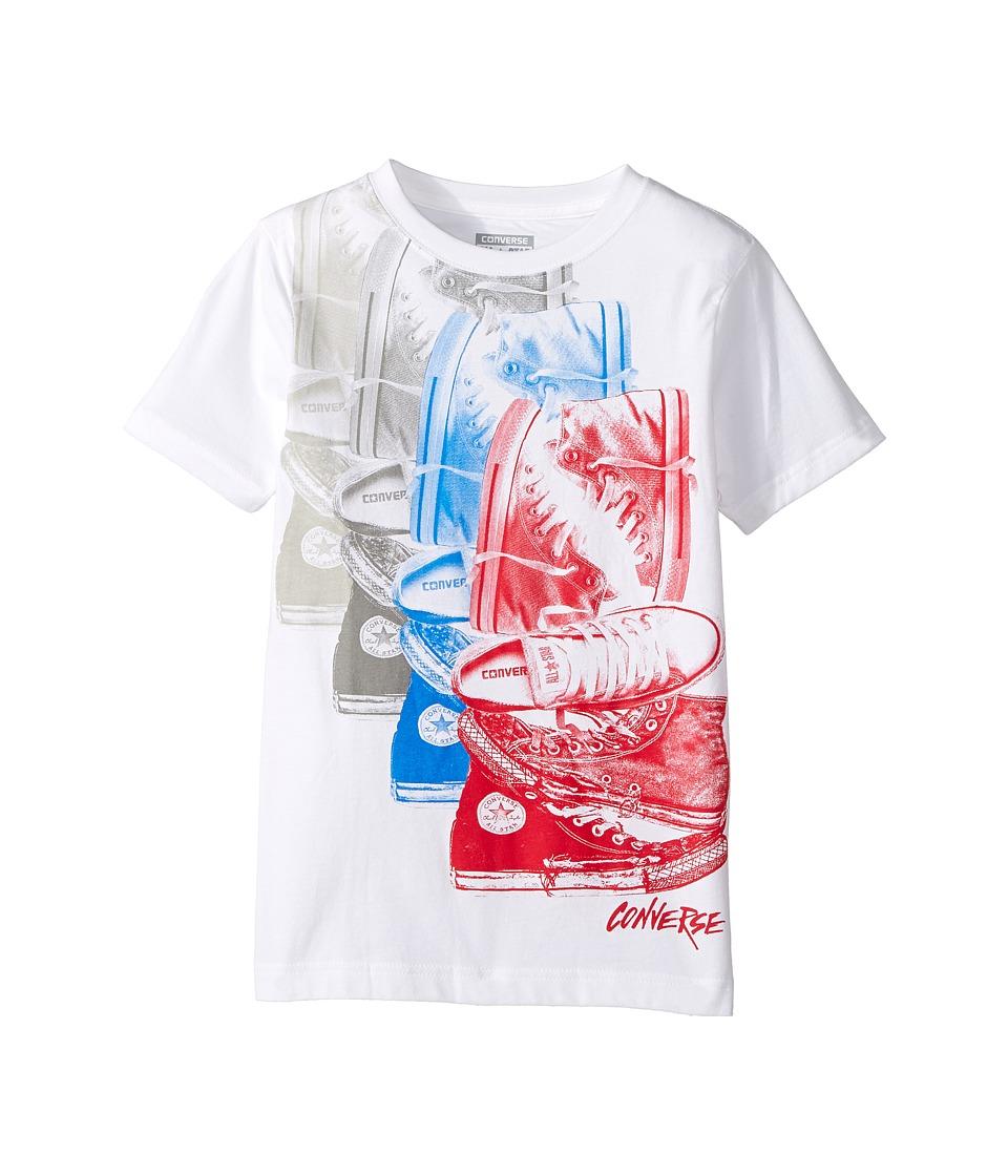 Converse Kids Chuck Repeat Tee (Big Kids) (White/Red) Boy