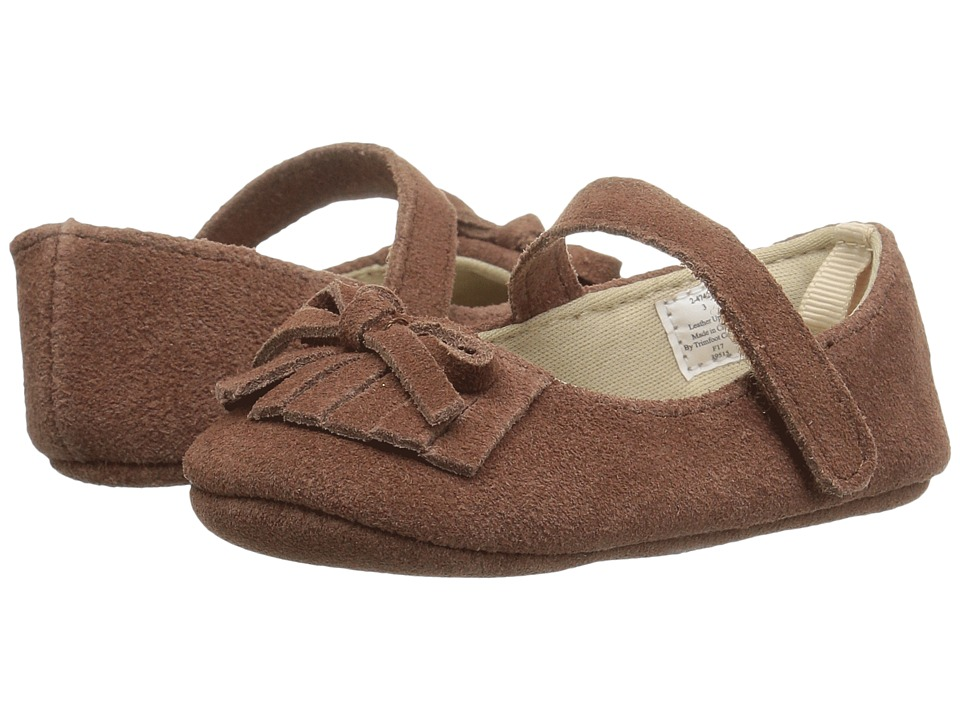 Baby Deer Soft Sole Mary Jane with Fringe (Infant) (Brown) Girl's Shoes
