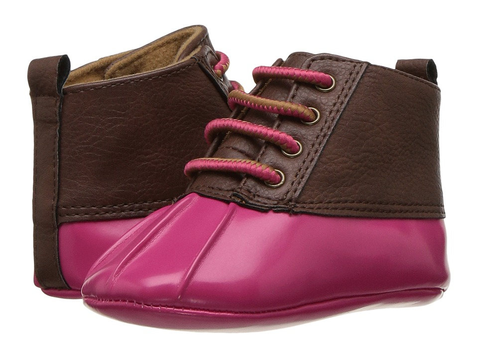 Baby Deer Soft Sole Duck Boot (Infant) (Fuchsia) Girl's Shoes