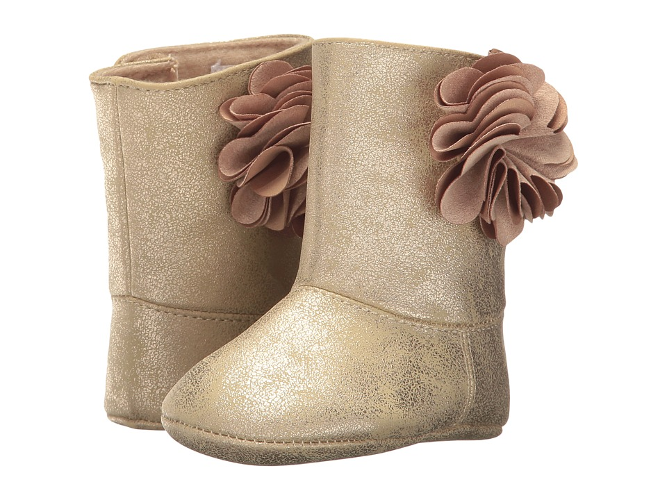 Baby Deer - Soft Sole Shimmer Boot with Flower