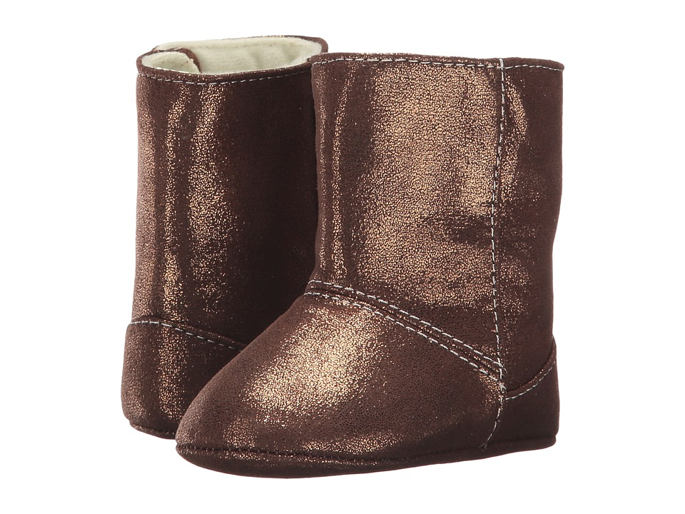 Baby Deer Soft Sole Shimmer Boot (Infant) (Bronze) Girl's...