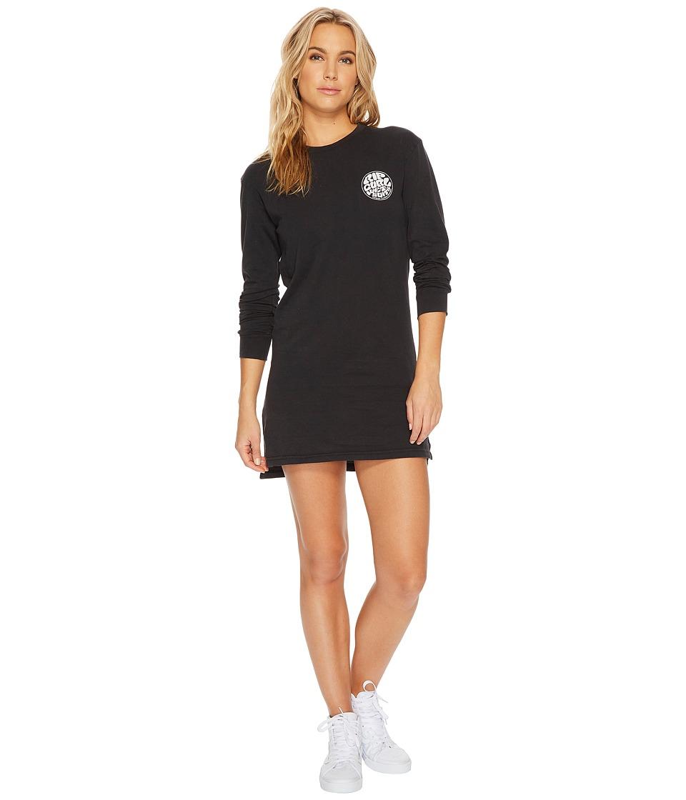 Rip Curl Wettie Long Sleeve Dress (Black) Women