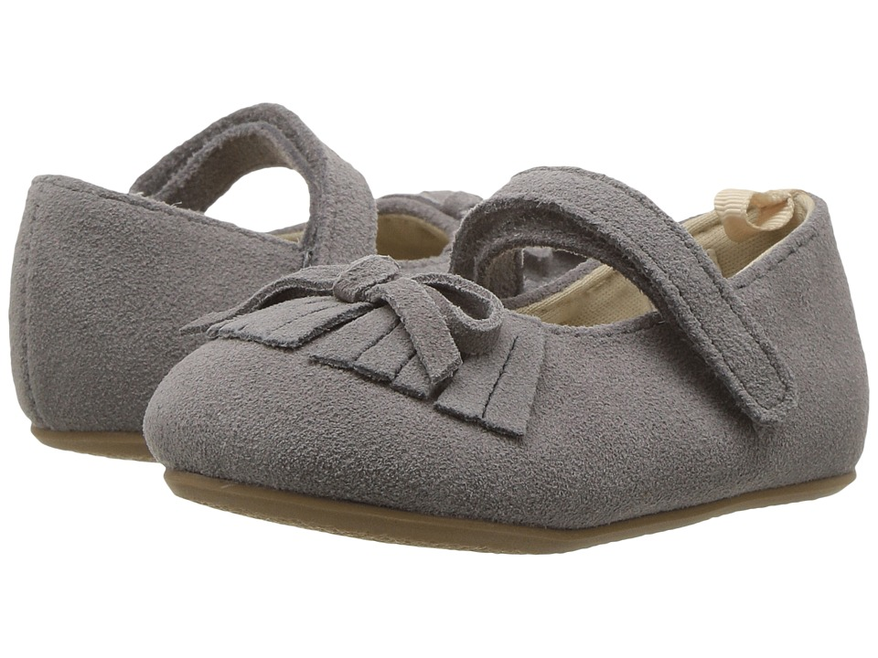 Baby Deer First Steps Mary Jane with Fringe (Infant/Toddler) (Grey) Girl's Shoes
