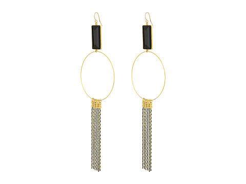 Vanessa Mooney The Gwen Earrings - Gold/Black