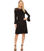 MICHAEL Michael Kors - Flounce Sleeve Lace Combo Dress