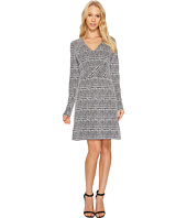 MICHAEL Michael Kors - Plaid Jacquard Fit and Flare Dress