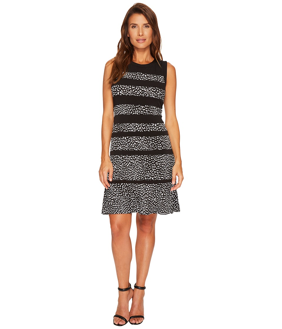 MICHAEL Michael Kors Cheetah Paneled Sleeveless Dress (Black) Women