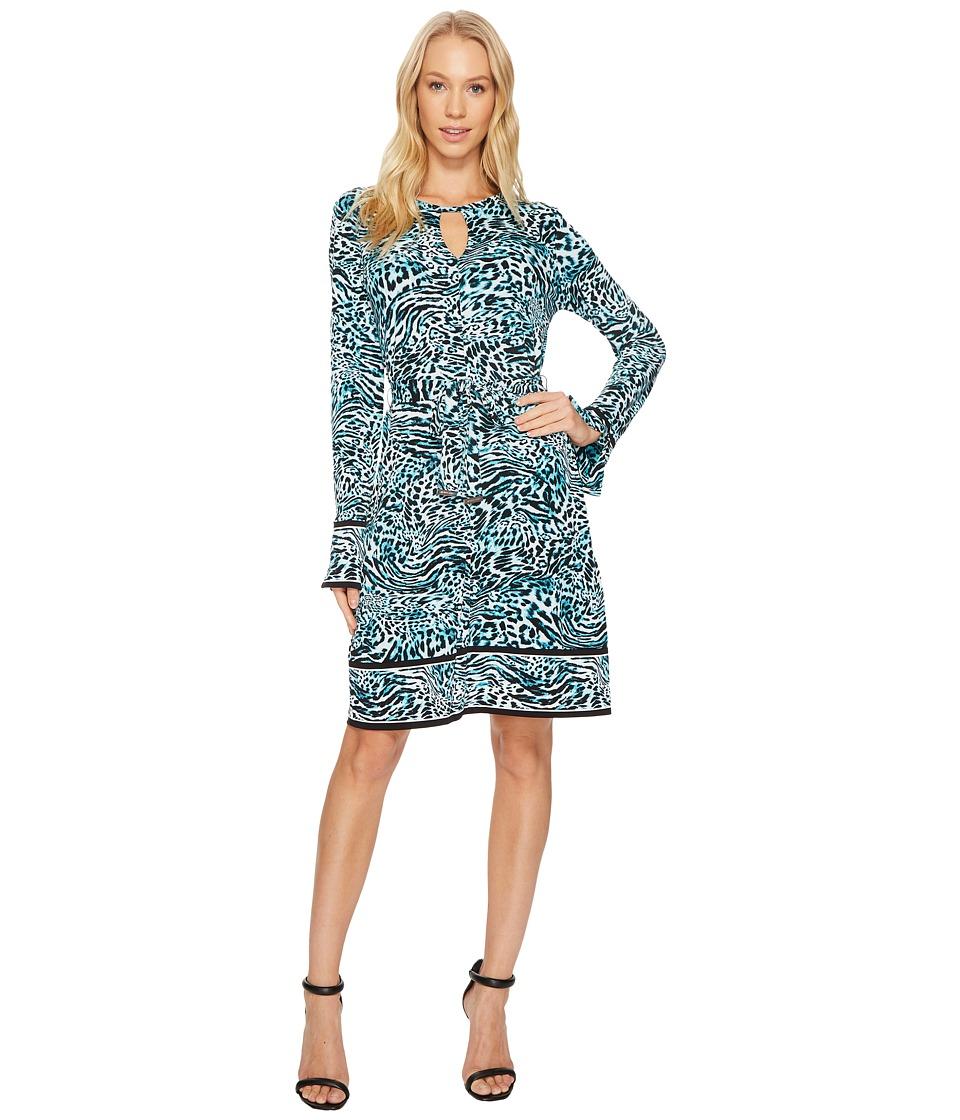 MICHAEL Michael Kors Big Cat Border Dress (Dark Peacock) Women