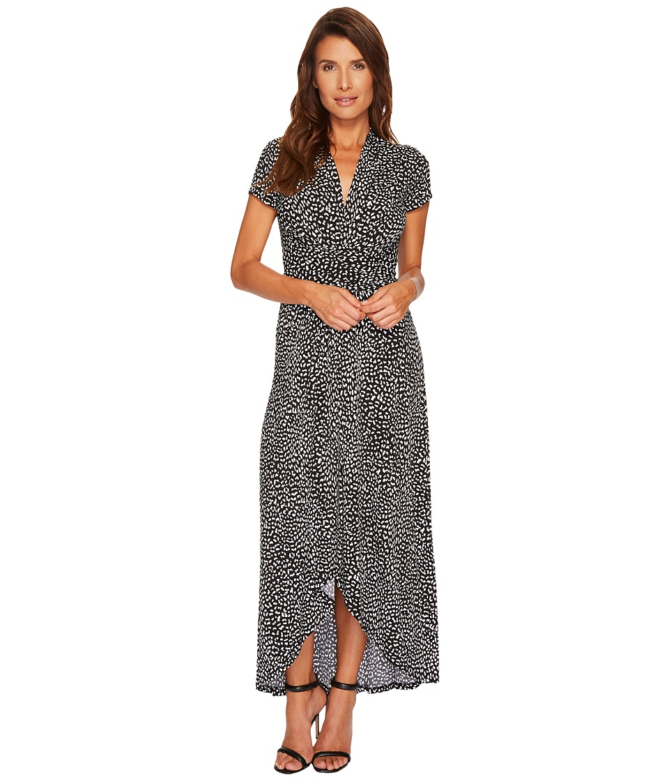 MICHAEL Michael Kors Cheetah Wrap Dress (Black) Women