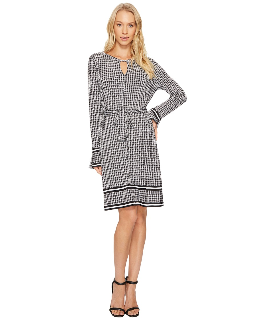 MICHAEL Michael Kors Houndstooth Border Dress (Black) Women