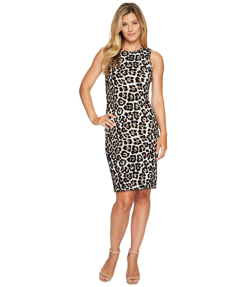 MICHAEL Michael Kors Animal Dress (Chocolate) Women