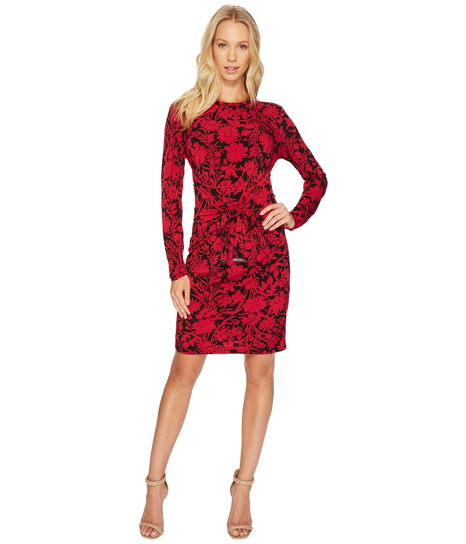 MICHAEL Michael Kors Garden Galore Twist Dress (Raspberry) Women