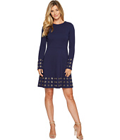 MICHAEL Michael Kors - Grommet Embellished Flare Dress