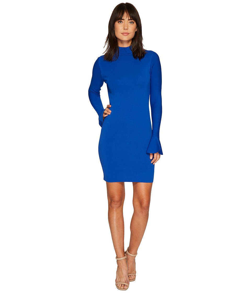 MICHAEL Michael Kors Bell Sleeve Long Sleeve Dress (Royal) Women