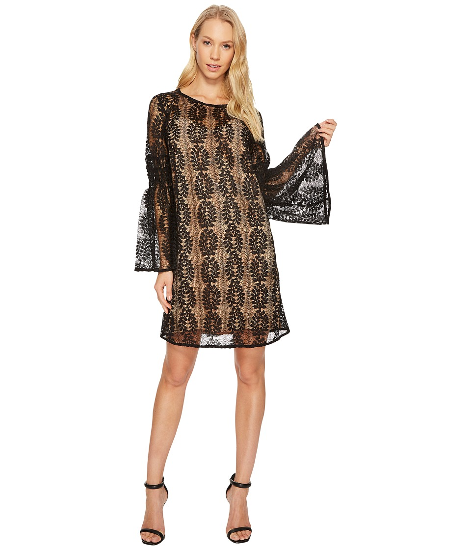 MICHAEL Michael Kors Bell Sleeve Lace Dress (Black) Women