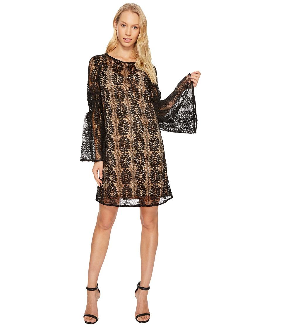 MICHAEL Michael Kors Bell Sleeve Lace Dress (Black) Women