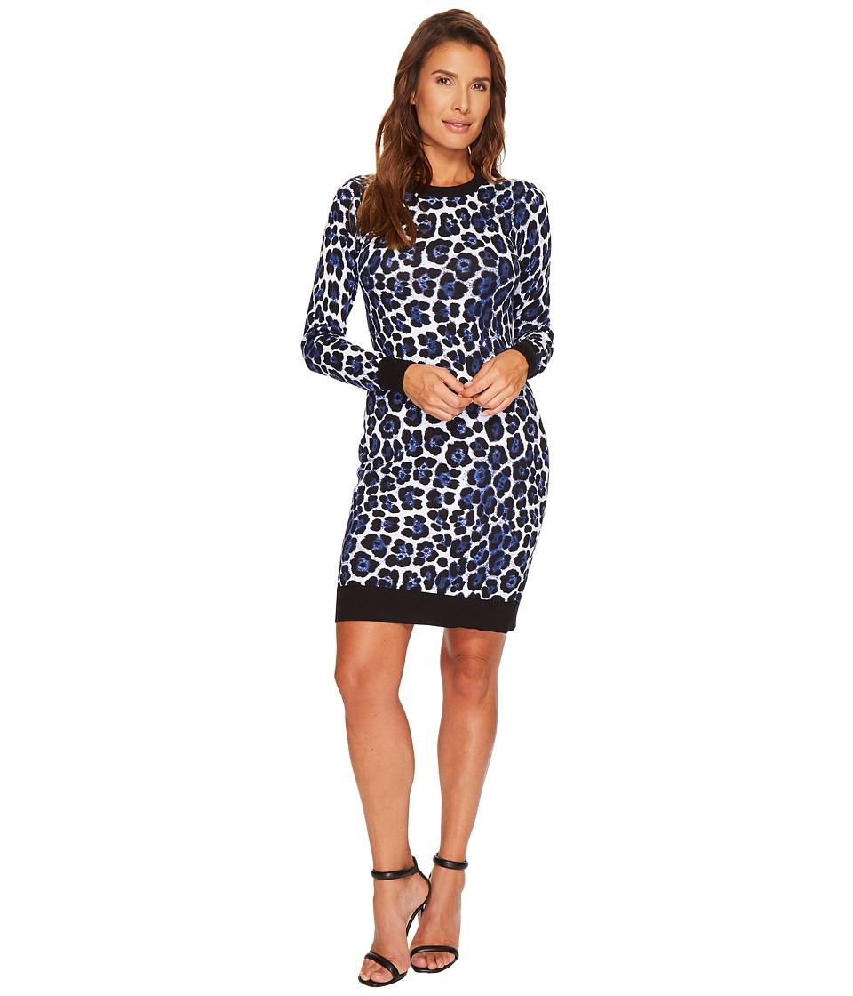 MICHAEL Michael Kors Printed Sweater Dress (Royal) Women