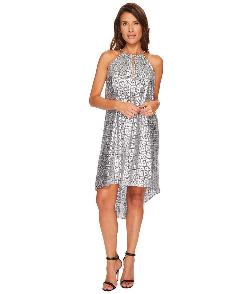 MICHAEL Michael Kors Leopard Chain Dress (Black/Silver) Women