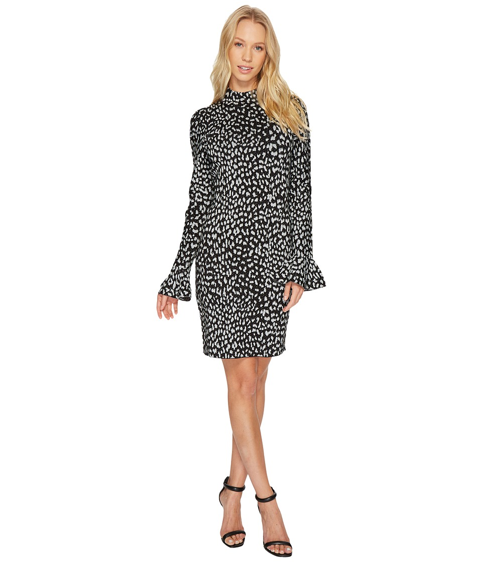 MICHAEL Michael Kors Metallic Cheetah Dress (Black) Women