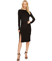 MICHAEL Michael Kors - Long Sleeve Asymmetrical Rouched Dress