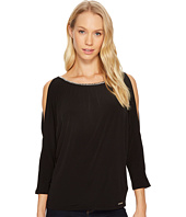 MICHAEL Michael Kors - Chain Neck Cold Shoulder Top