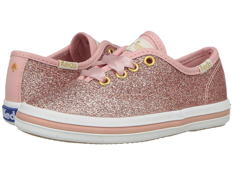 Keds Kids - Keds for Kate Spade Champion Glitter (Toddler) (Rose Gold) Girls Shoes