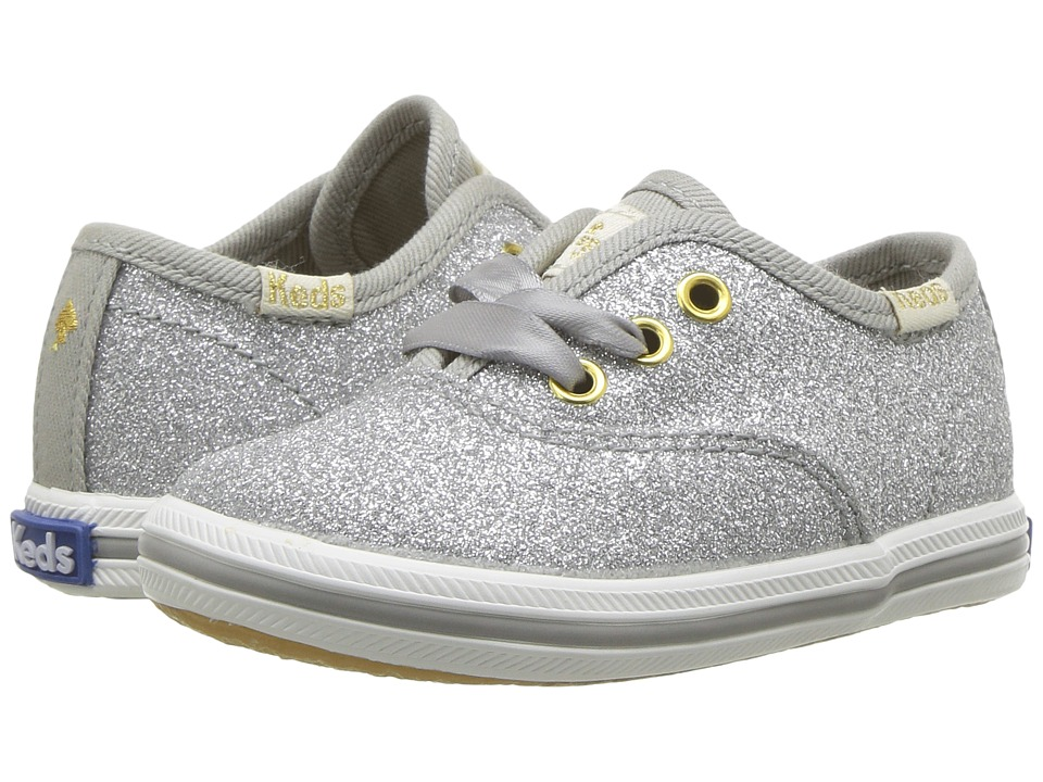 Keds Kids - Keds for Kate Spade Champion Glitter Crib (Infant/Toddler) (Silver) Girls Shoes
