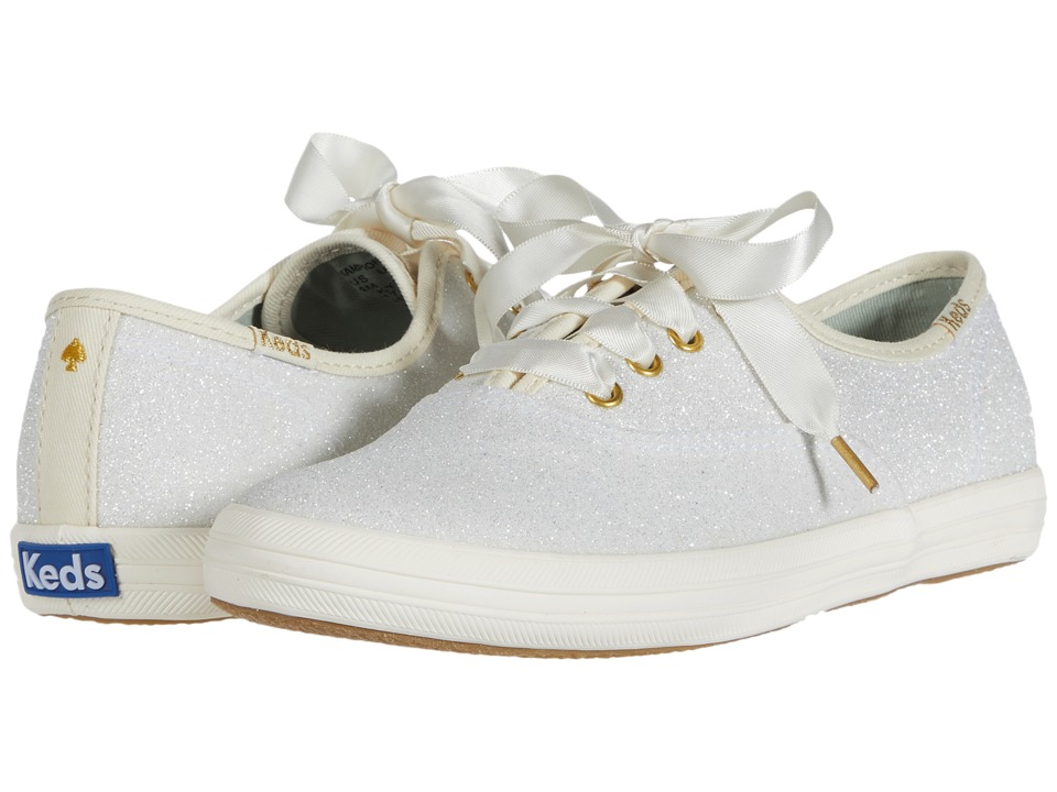 Keds Kids - Keds for Kate Spade Champion Glitter (Little Kid/Big Kid) (Cream) Girls Shoes