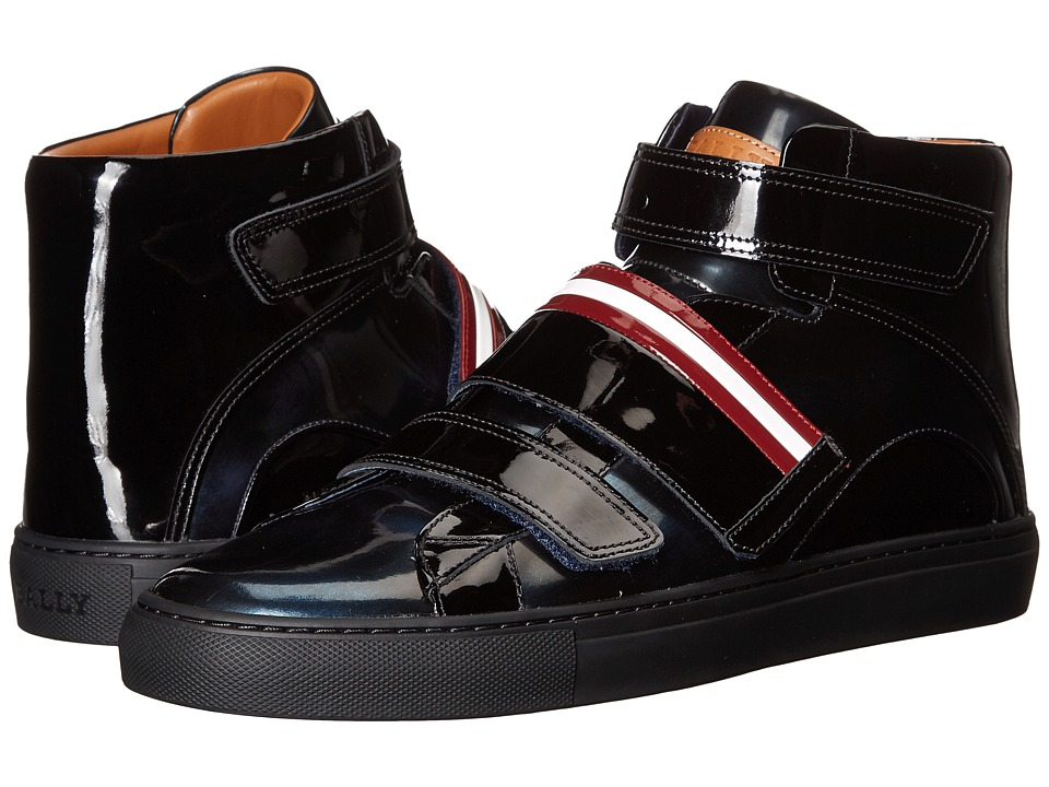 Bally Herick Velcro High Top (Ink/Black/Dark Red) Men's S...