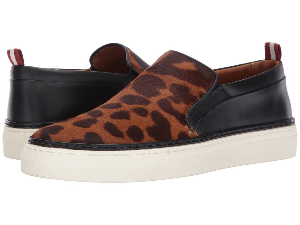 Bally - Herrison Pony Hair Slip-On (Leopard/Black) Mens Shoes