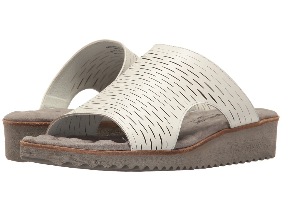 Walking Cradles - Hartford (White Accordion Perf) Women's Sandals