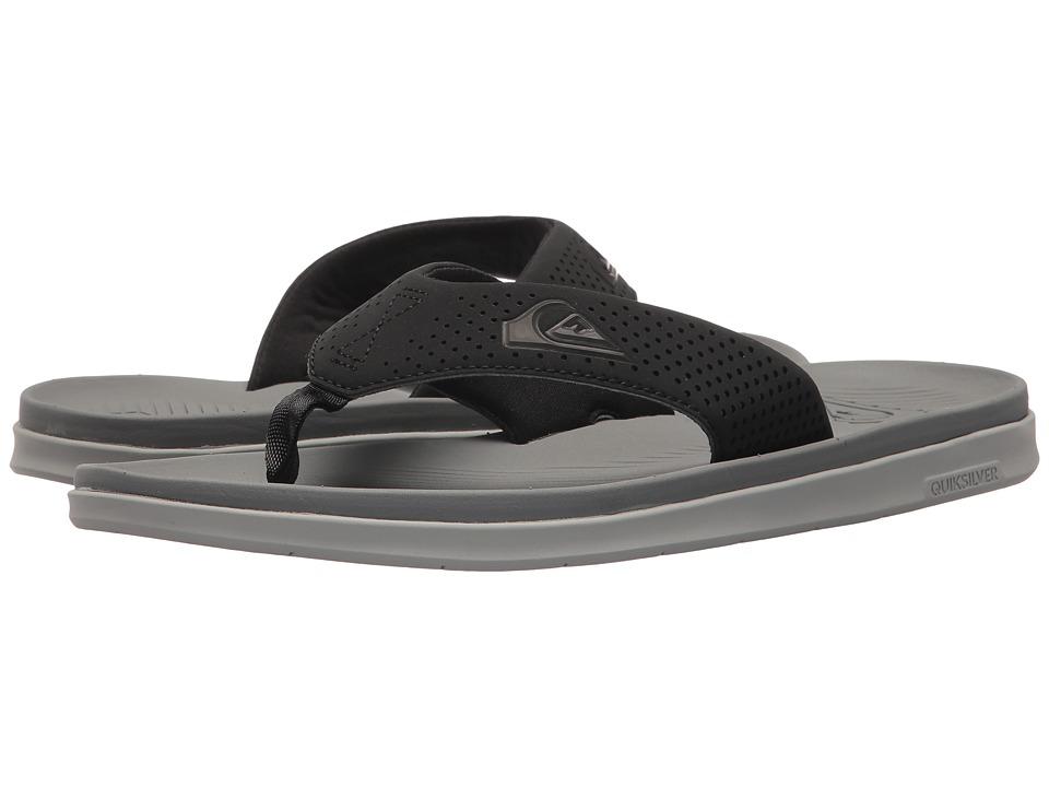 Quiksilver - Haleiwa Plus (Black/Grey/Blue) Men's Sandals