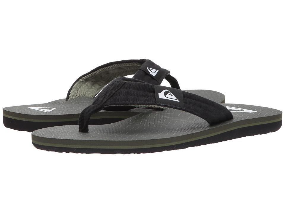 Quiksilver - Molokai Layback (Black/Green/Green 2) Men's Sandals