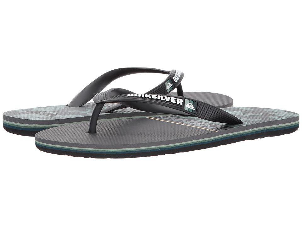 Quiksilver - Molokai Hi (Black/Green/Black) Men's Sandals
