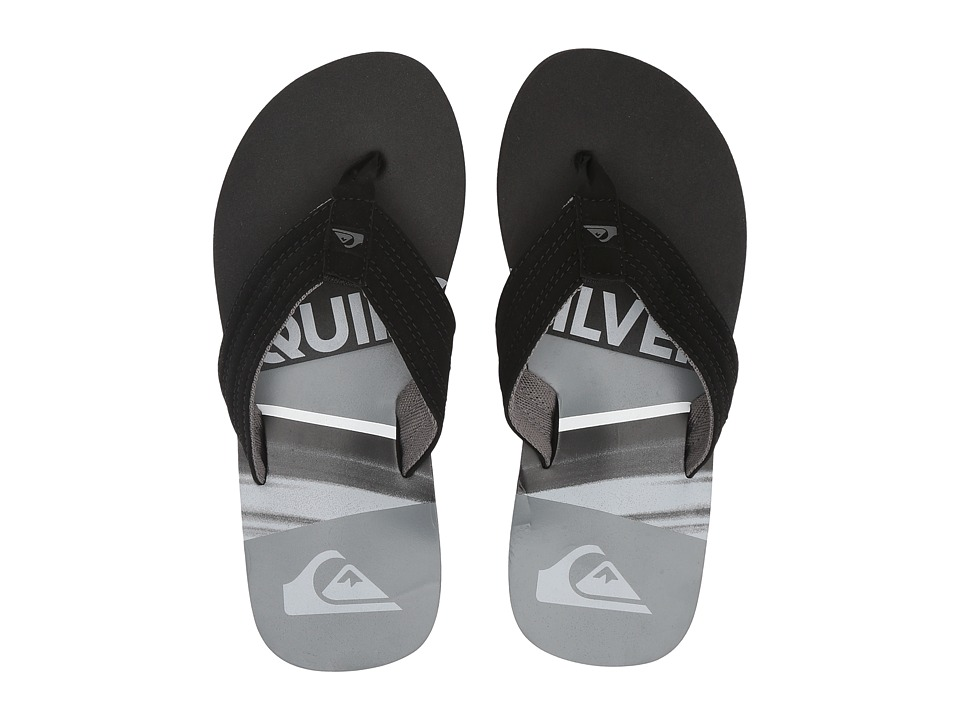 Quiksilver Kids Basis (Toddler/Little Kid/Big Kid) (Black/Black/Grey) Boys Shoes