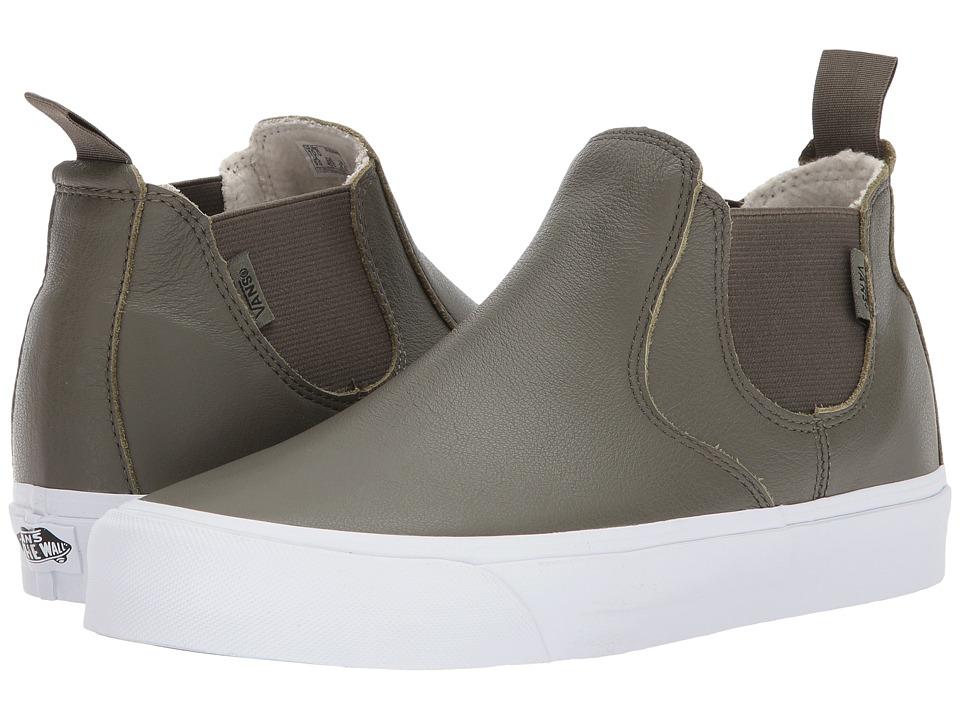 Vans Classic Slip-On Mid DX ((Leather) Grape Leaf/True White) Skate Shoes