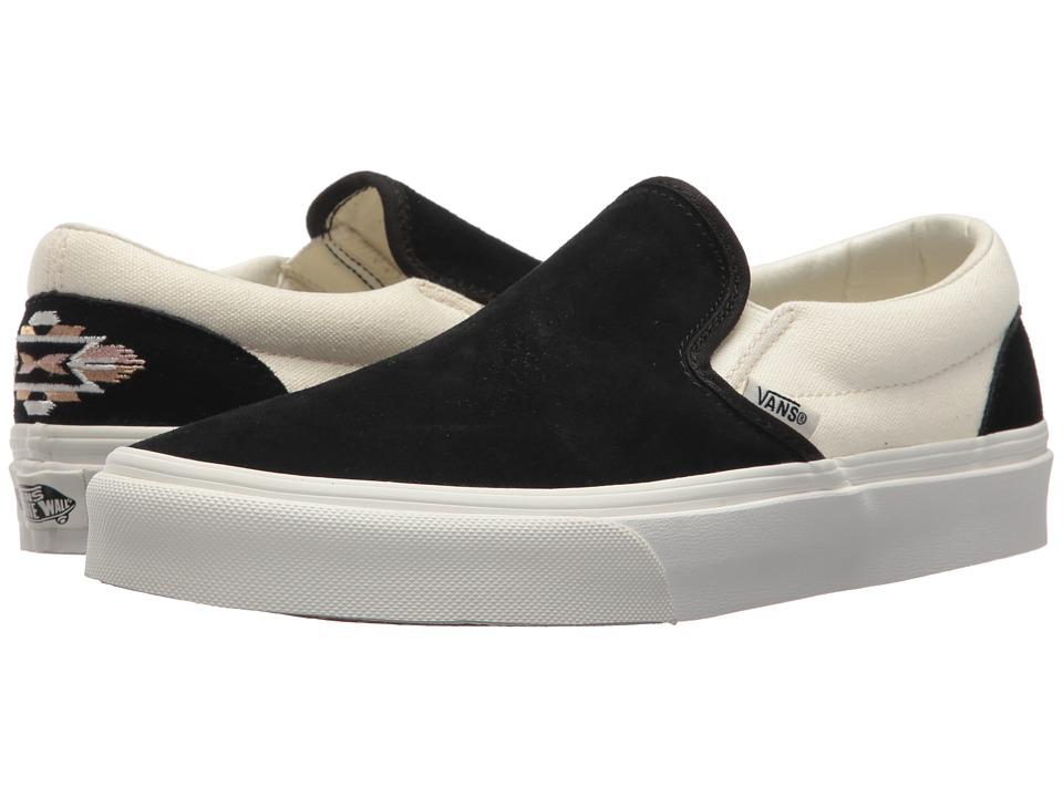 Vans Classic Slip-Ontm ((Native Embroidery) Black/Marshmallow) Skate Shoes