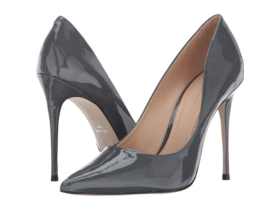 Massimo Matteo Pointy Toe Pump 17 (Gris Patent) Women's Shoes