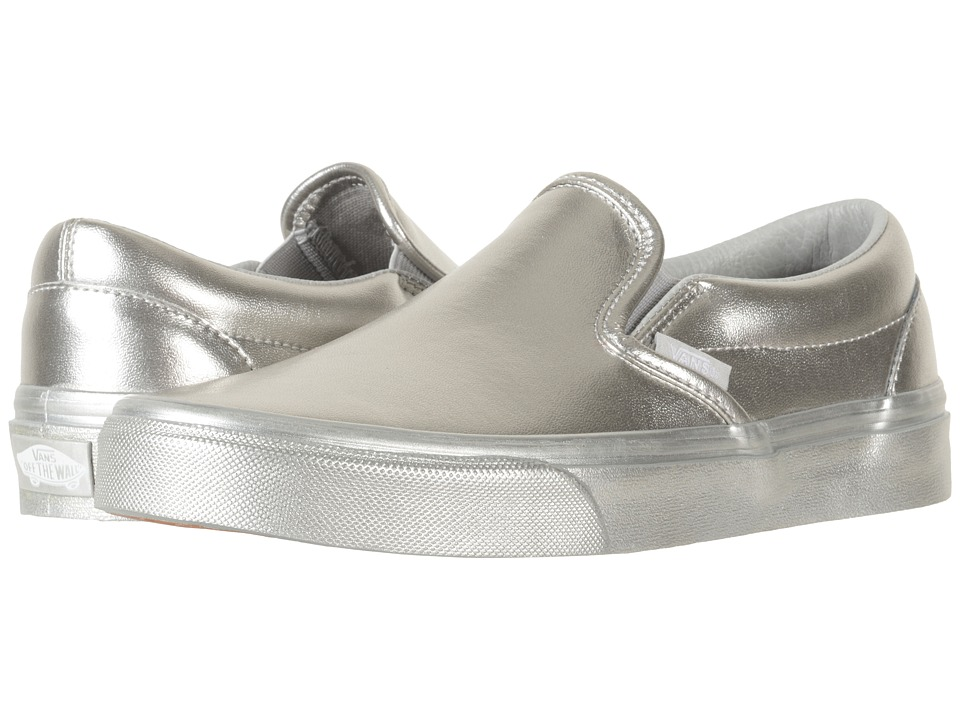 Vans - Classic Slip-Ontm ((Metallic Wall) Silver) Skate Shoes
