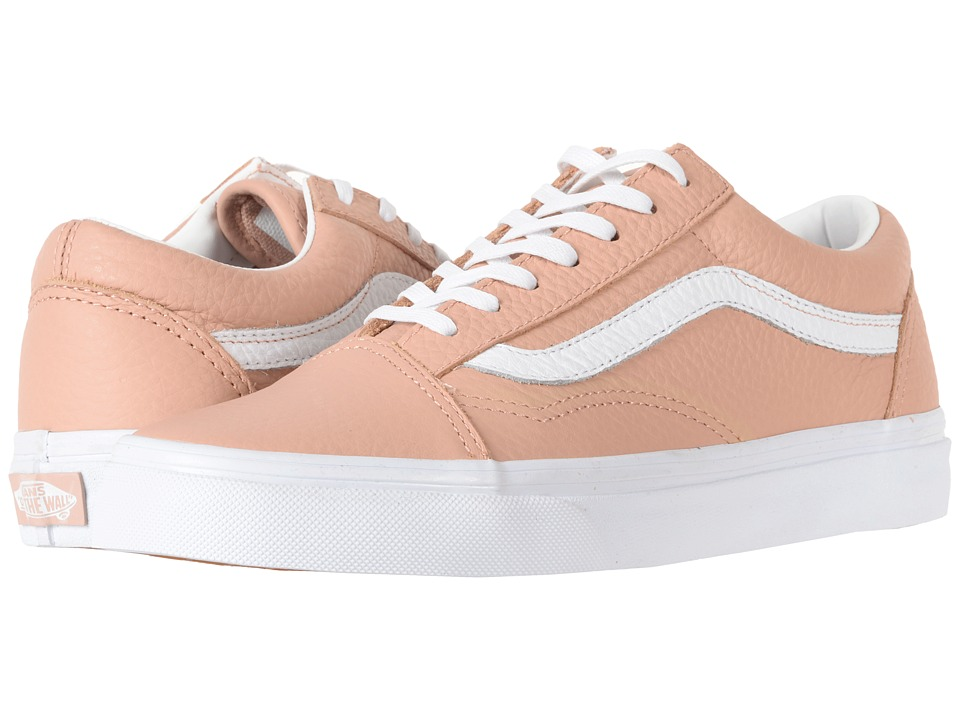 Vans - Old Skool DX ((Tumble Leather) Mahogany Rose/True White) Skate Shoes