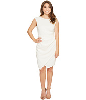 London Times - Petite Asymmetrical Hem Sheath Dress